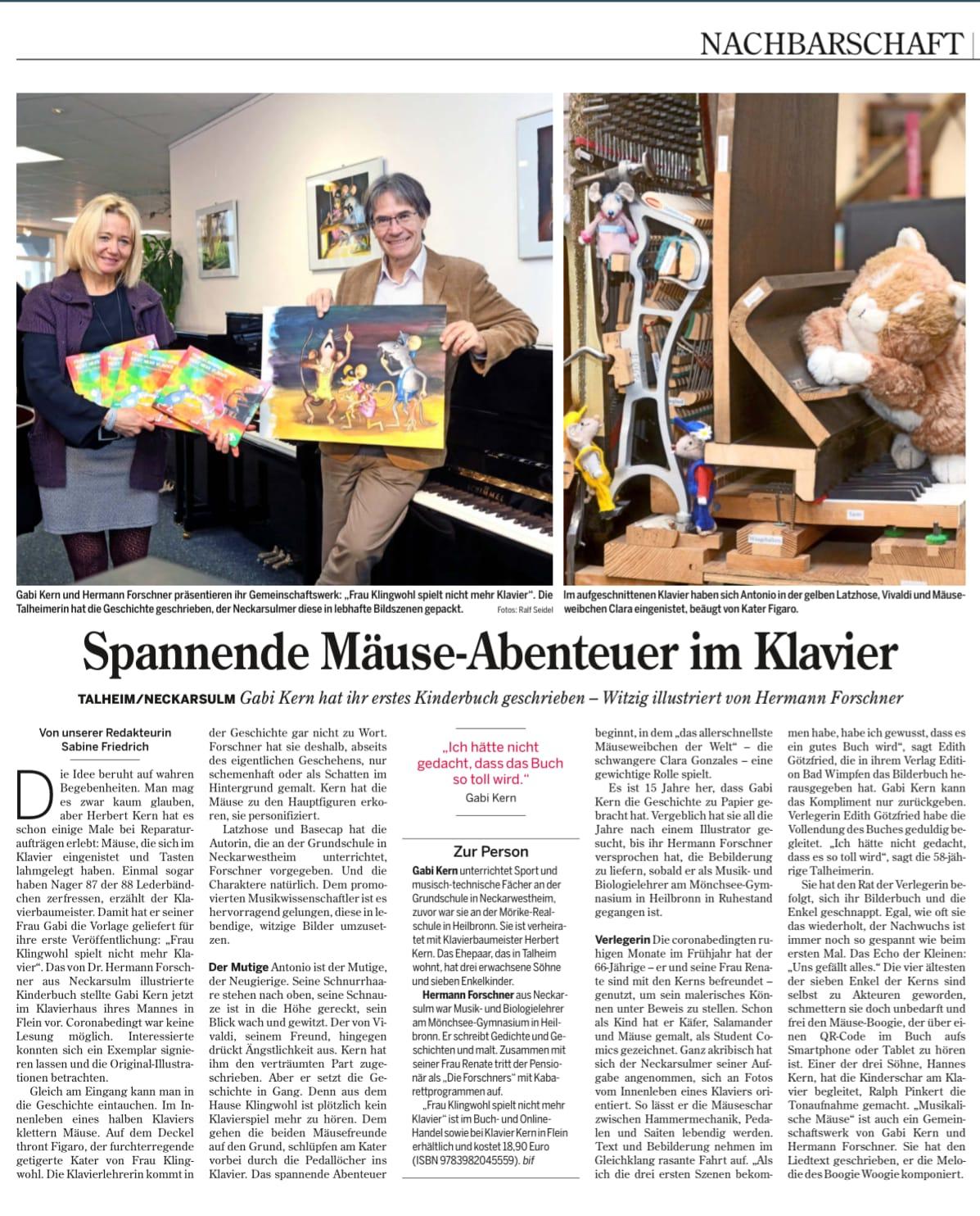 Veröffentlichung in Heilbronner Stimme